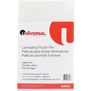 "Universal Clear Laminating Pouches, 3 Mil, 9"" x 14 1/2"", 25/Pk"