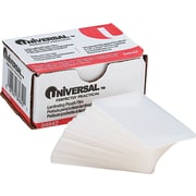 "Universal Clear Laminating Pouches, Business Card, 5 Mil, 2 1/4"" x 3 3/4"", 100/Bx"