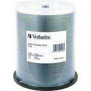 Verbatim CD-R, 52X, 700MB/80 Minute, Inkjet Printable, Silver, 100/Pk