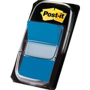 "Post-it® 1"" Blue Flags with Pop-Up Dispenser, 12/Pack"