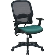 SPACE® Deluxe Air Grid™ Mesh Managers Chair, Green Seat