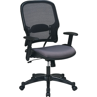 SPACE® Deluxe Air Grid™ Mesh Managers Chair, Gray Seat