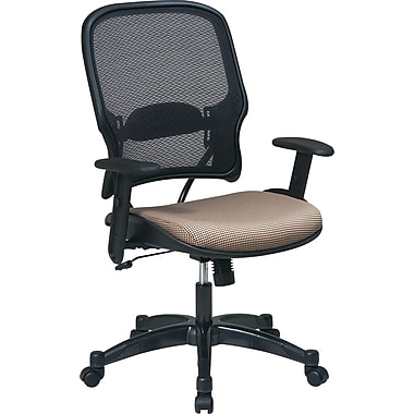 SPACE® Deluxe Air Grid™ Mesh Managers Chair, Gold Seat