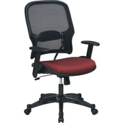 SPACE® Deluxe Air Grid™ Mesh Managers Chair, Rust Seat