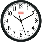 Staples 10 Round Wall Clock,  Black