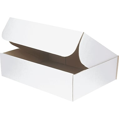 Staples® White Corrugated Document Mailers, 15-1/8in. x 11-1/8in. x 4in.