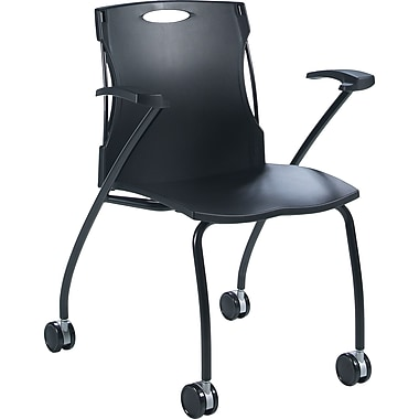 Global® Flex-Nest Horizontal Nesting Chair, Black