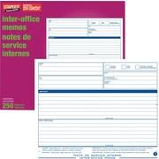 Staples® Inter-office Memo Snap Sets, Carbonless, Triplicate, Bilingual, 250-Pack