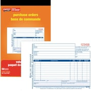 "Staples® Bilingual Purchase Order Form, SDC53B-10, Duplicates, Carbonless, Staple Bound, 5-9/16"" x 8-7/16"", 10/Pk"