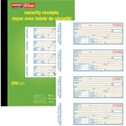 Staples® Security Receipt Books, Bilingual