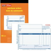"Staples® Bilingual Purchase Order Form, SDC53B, Duplicates, Carbonless, Staple Bound, 5-9/16"" x 8-7/16"""