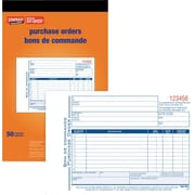"Staples® Bilingual Purchase Order Form, STC53B, Triplicates, Carbonless, Staple Bound, 5-9/16"" x 8-7/16"""