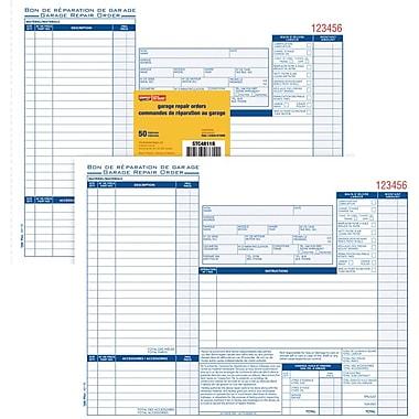 Staples® - Tablette de Bons de commande pour réparations, bilingues