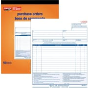 "Staples® Bilingual Purchase Order Form, STC83B, Triplicates, Carbonless, Staple Bound, 8"" x 10"""