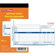 "Staples® Bilingual Purchase Order Form, SDC43B, Duplicates, Carbonless, Staple Bound, 4"" x 7"""