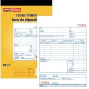 Staples® Repair Order Forms, Carbon Triplicate, Bilingual