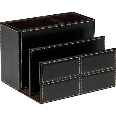 Staples® Mission Faux Leather Desk Organizer
