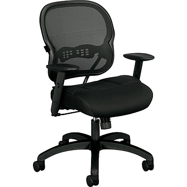 Basyx™ VL712 Mesh/Fabric Mid Back Swivel/Tilt Chair, Black