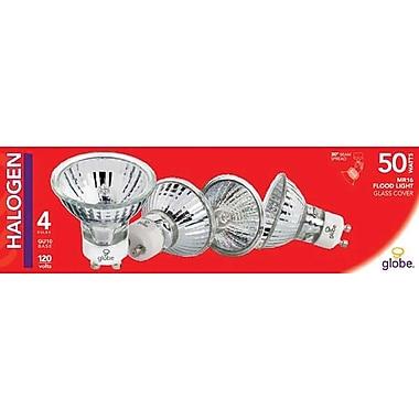 Globe GU10 50W Halogen Light Bulbs, 4/Pack
