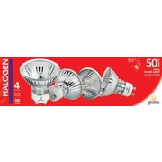 Globe GU10 50W Halogen Light Bulbs, 4/Pack