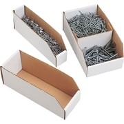 Corrugated Bin Boxes, 18 x 4 x 4 1/2, 50/pack