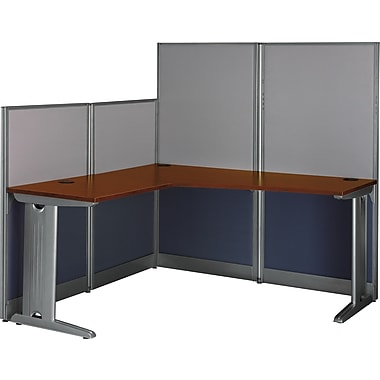 Bush® Office in an Hour Collection, L Workstation with Panels