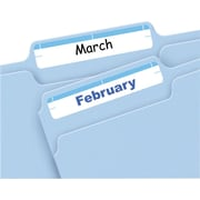 Avery Print & Write Light Blue File Folder Labels, 252/Pack