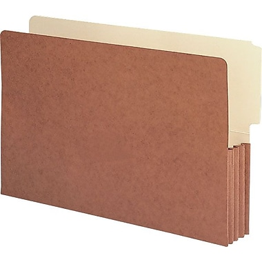 Smead® End-Tab Redrope Expanding File Pockets, Legal, 3 1/2in. Expansion, 10/Box