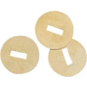 OIC® Brass-Plated Round Head Fasteners, #2 Brass Washer, Large
