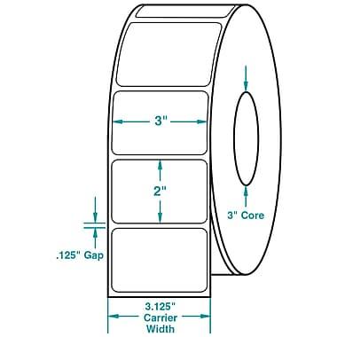 3 x 2 White Permanent Adhesive Thermal Transfer Roll Sato Compatible Label/Ribbon Kit