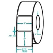 3 x 3 White Permanent Adhesive Thermal Transfer Roll Sato Compatible Label/Ribbon Kit