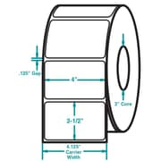 4 x 2-1/2 White Permanent Adhesive Thermal Transfer Roll Intermec Compatible Label/Ribbon Kit