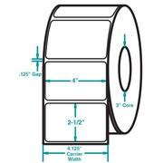 4 x 2-1/2 White Permanent Adhesive Thermal Transfer Roll Sato Compatible Label/Ribbon Kit