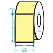 4 x 6 Perfed Yellow Permanent Adhesive Thermal Transfer Roll Zebra Compatible Label/Ribbon Kit