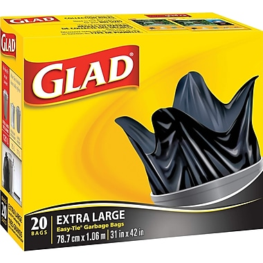 Glad® Easy-Tie Garbage Bags, 20/Pack