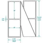 4 x 6 Perfed White Permanent Adhesive Thermal Transfer Fanfold Sato Compatible Label/Ribbon Kit