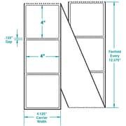 4 x 4 Perfed White Permanent Adhesive Thermal Transfer Fanfold Sato Compatible Label/Ribbon Kit