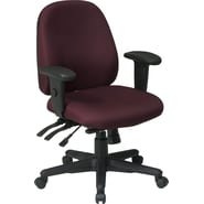 Office Star Ratchet Back Multi Function Fabric Ergonomic Task Chair, Burgundy