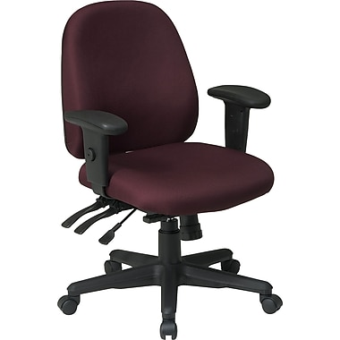 Office Star Fabric Computer and Desk Office Chair, Burgundy, Adjustable Arm (43808-227)