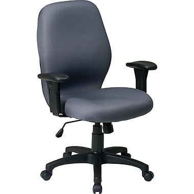 Office Star™  2-to-1 Fabric Manager's Chair, Gray