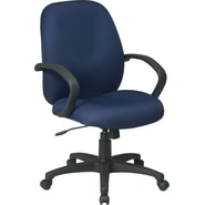 Office Star Distinctive Fabric Conference Room Chair, Blue