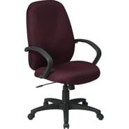 Office Star Distinctive High-Back Fabric Executive Chair, Burgundy