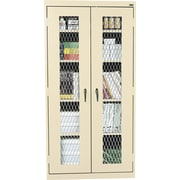 "Sandusky Stationary Metal Front Cabinet, Putty, 72""H x 46""W x 24""D"
