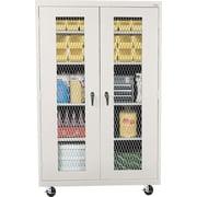 "Sandusky Mobile Metal Front Cabinet, Dove Gray, 78""H x 46""W x 24""D"