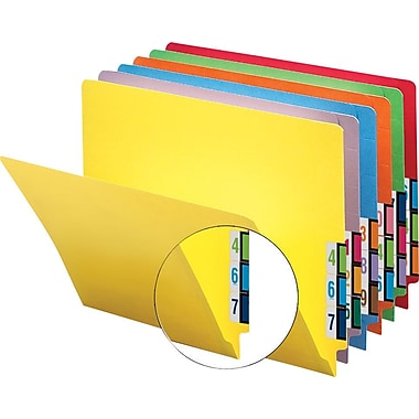Smead® Colored Reinforced End-Tab File Folders