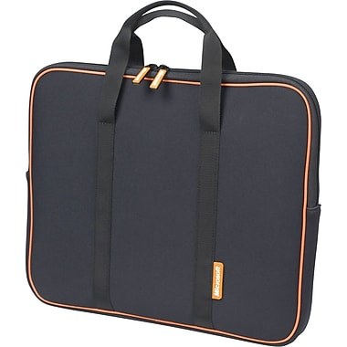 Microsoft® Laptop Sleeve, Black with Orange Accent, 15.4