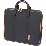 Microsoft® Laptop Sleeve, Black with Orange Accent, 15.4""