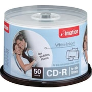 Imation 50/Pack 700MB White Inkjet Printable CD-R