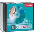 Imation 10/Pack 700MB CD-RW, Slim Jewel Cases