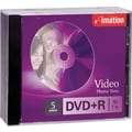 Imation 5/Pack 4.7GB DVD+R, Jewel Cases
